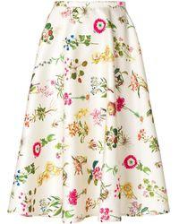 N°21 Юбка С Цветочным Принтом - Многоцветный