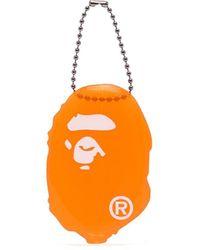 A Bathing Ape Porte-monnaie à imprimé graphique - Orange