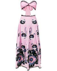 Yuliya Magdych - Cut-out Poppy Print Dress - Lyst