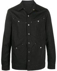 Rick Owens スナップボタン シャツジャケット - ブラック