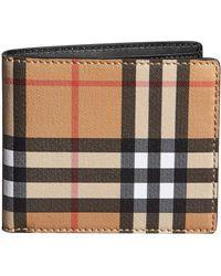 Burberry チェック 二つ折り財布 - マルチカラー