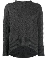 Drumohr ケーブルニット セーター - マルチカラー