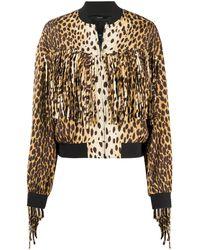 R13 Cheetah ボンバージャケット - ブラウン