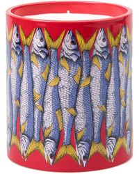 Fornasetti - Sardine Print Candle - Lyst