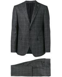 Tagliatore Checked Two-piece Suit - Grijs