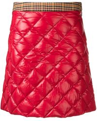 Moncler Quilted Mini Skirt - Rood