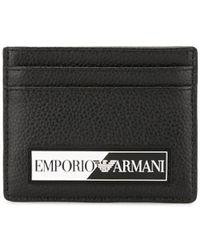 Emporio Armani Logo Patch Cardholder - Black