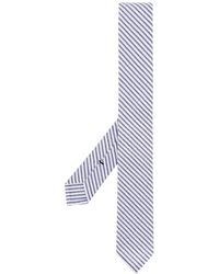 Thom Browne Striped tie - Blau