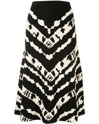 PROENZA SCHOULER WHITE LABEL Jacquard-pattern Mid-length Skirt - Black