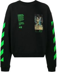 Off-White c/o Virgil Abloh Pascal Painting Over Crewneck - Schwarz