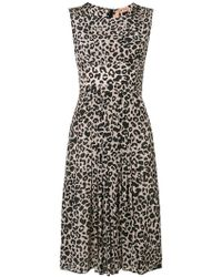 N°21 - Flared Leopard Print Dress - Lyst 9f5598e77