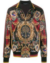 Dolce & Gabbana Jas Met Print - Zwart