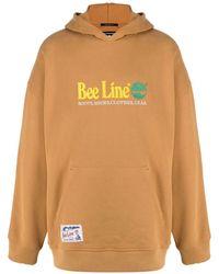 Timberland Slogan-embroidered Cotton Hoodie - Orange