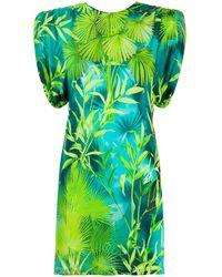 Versace Платье Мини С Принтом - Зеленый