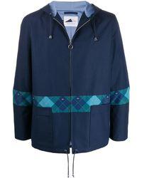 Anglozine Arles フーデッド ライトジャケット - ブルー