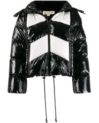 MICHAEL Michael Kors Ciré カラーブロック パデッドジャケット - ブラック
