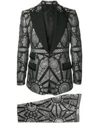 Dolce & Gabbana Dreiteiliger Jacquard-Anzug - Grau