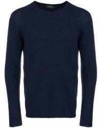 Zanone - Slim Fit Knitted Jumper - Lyst