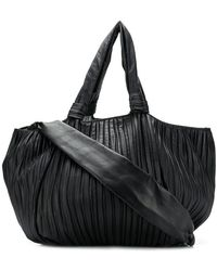 098e9327281 Burberry Black Check Coated Canvas Cartridge Pleated Lowry Tote in ...