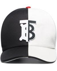 Burberry Honkbalpet Met Monogram - Zwart