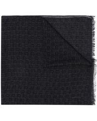 Billionaire Crest Logo-print Scarf - Black