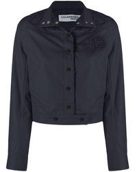 Courreges Embroidered-logo Jacket - Blue