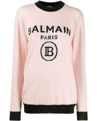 Balmain オーバーサイズ セーター - ピンク