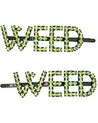 Ashley Williams Weed ヘアピン - グリーン