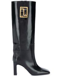 Versace Сапоги Greca 90 - Черный