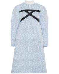 ShuShu/Tong Robe ample à détail d'harnais - Bleu