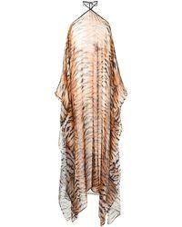 Roberto Cavalli タイガープリント ドレス - ブラウン