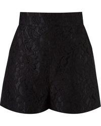 Martha Medeiros High-waisted Lace Shorts - Black
