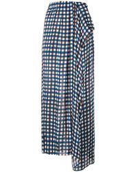 edd1165daed5 Alice + Olivia Checkered Short Skirt in Black - Lyst