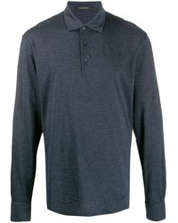 Ermenegildo Zegna Longsleeved polo shirt - Blu