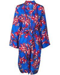 P.A.R.O.S.H. Long Printed Kimono - Blue