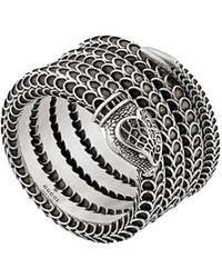 Gucci Ring Met Slang - Metallic