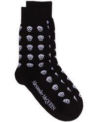 Alexander McQueen Носки С Узором Skull - Черный