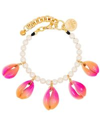 Venessa Arizaga Pink Summer Shells Pearl Bracelet