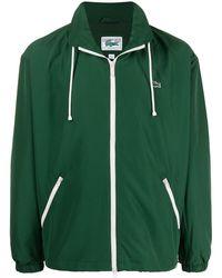 Lacoste ロゴパッチ ライトジャケット - グリーン
