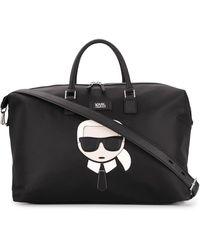 Karl Lagerfeld Karl Embroidered Weekend Bag - Black