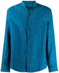 Sease バンドカラー シャツ - ブルー