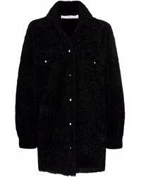 IRO シアリングコート - ブラック