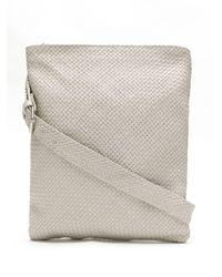 Sarah Chofakian Woven Leather Shoulder Bag - White