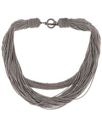 Brunello Cucinelli Layered Rope Necklace - Metallic