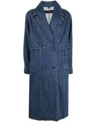 J Brand Billie Denim Trench Coat - Blue