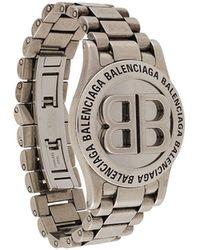 Balenciaga Bb Time Bracelet - Metallic