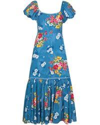 LoveShackFancy Salma フローラル ドレス - ブルー