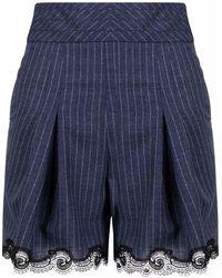 Koche Pantalones cortos de talle alto - Azul