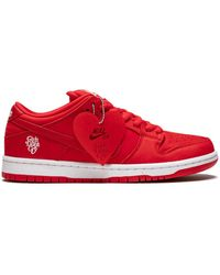 Nike Sb Dunk Low Pro Qs 'girls Don't Cry' Shoes - Red