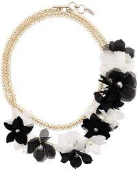 Lanvin Flower embellished necklace - Noir